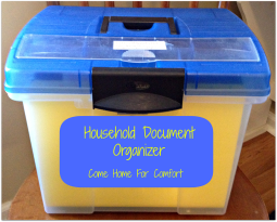 come home for comfort household document organizer