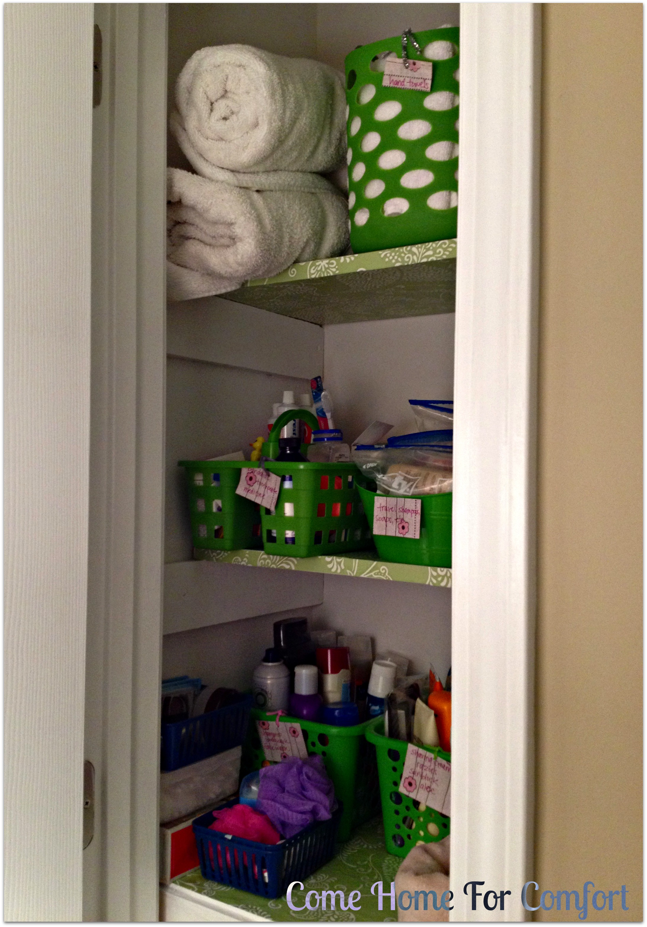 Organizing Your Linen Closet Come Home For Comfort