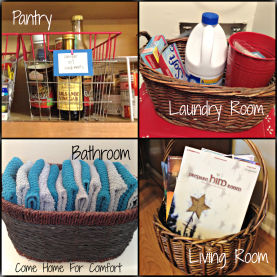 Organizing With Baskets Come Home For Comfort