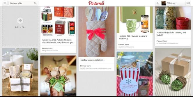 Pinterest Board Hostess Gifts