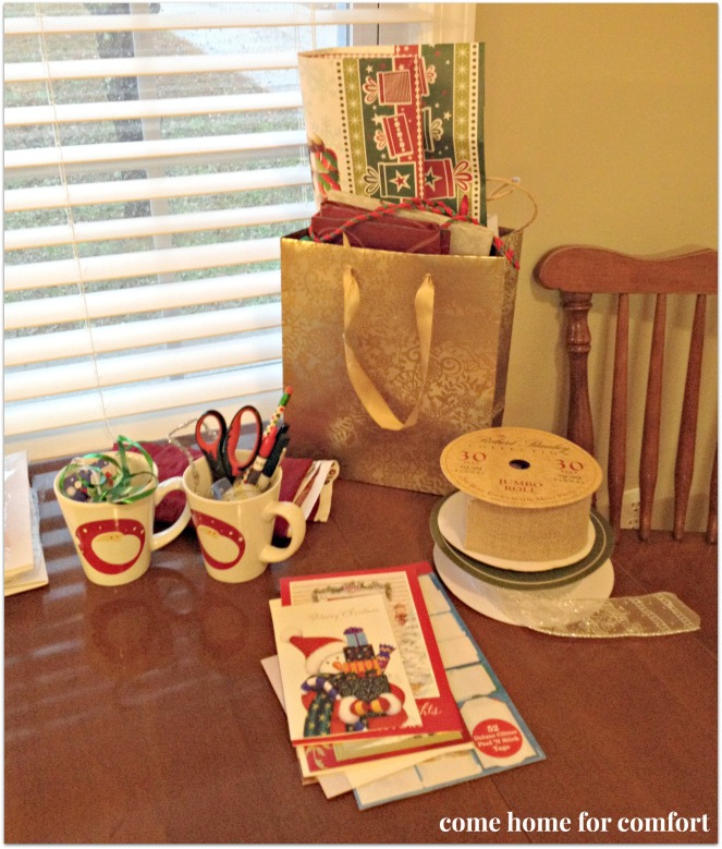 christmas gift wrapping station come home for comfort 2