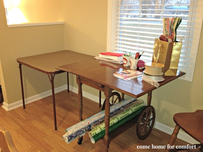 christmas gift wrapping station come home for comfort 3