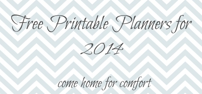 free printable planners for 2014