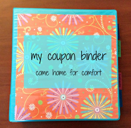 coupon binder come home for comfort