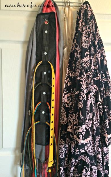 close belt organizer come home for comfort