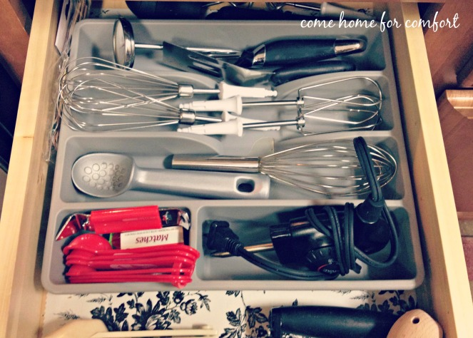 utensil drawer detail
