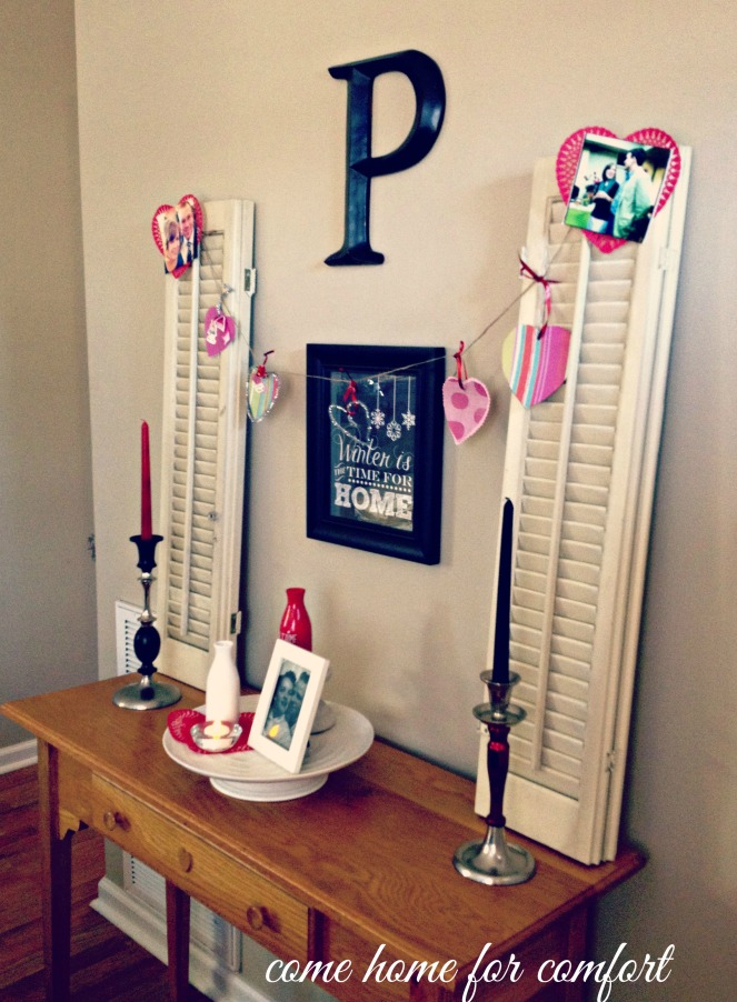 valentines day decor side