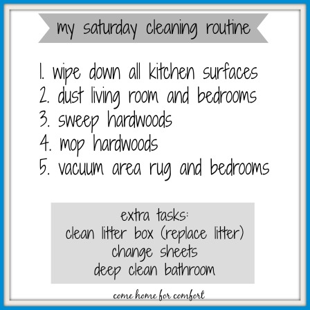 saturday cleaning routine