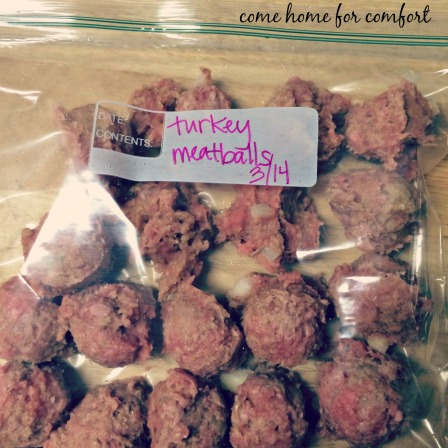 turkey meatballs for the freezer