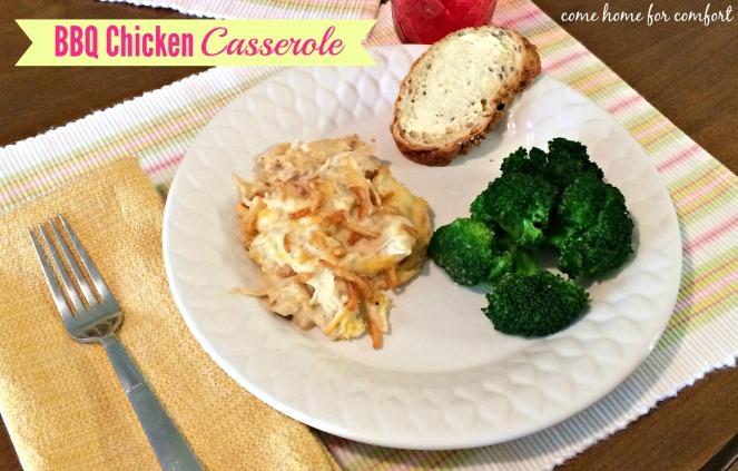 BBQ Chicken Casserole 1