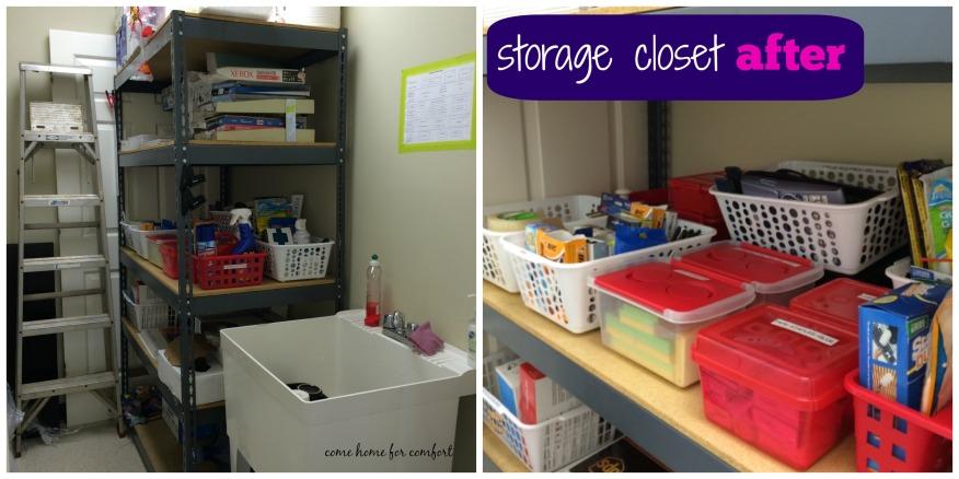 storage closet after