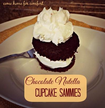 Chocolate Nutella Cupcake Sammies