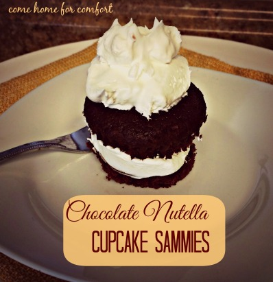 Chocolate Nutella Cupcake Sammies