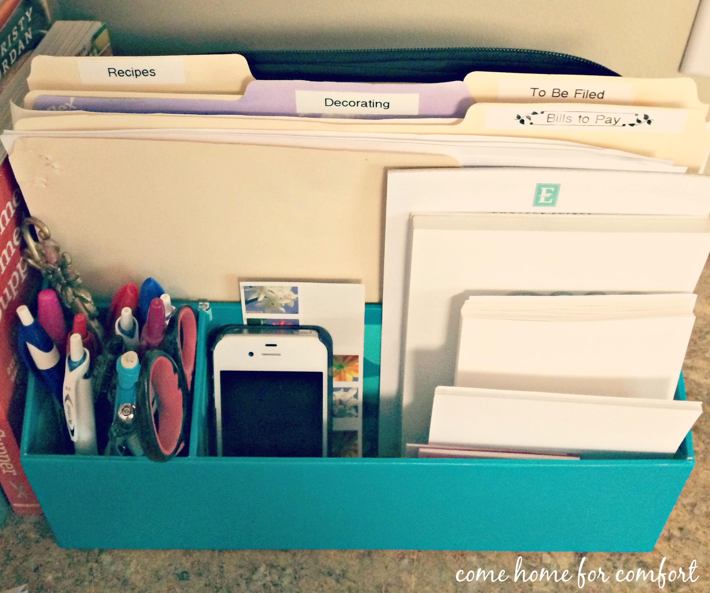 Kitchen Office Filing System