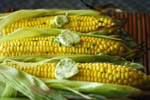 grilled-corn-with-lime-cilantro-wasabi-butter