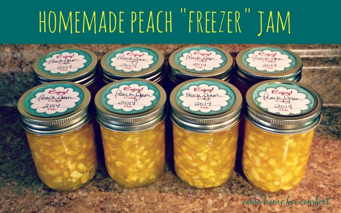 How to make homemade peach freezer jam