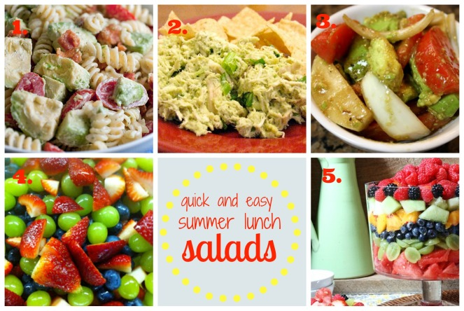 Quick and Easy Summer Lunch Salads
