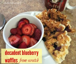 Homemade Blueberry Waffles Come Home For Comfort