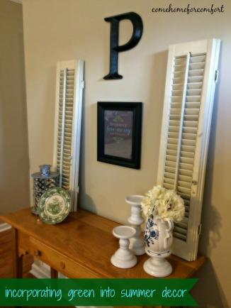 Incorporating green into summer decor