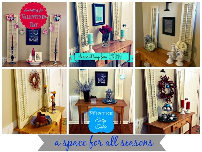 Seasonal Decorating in One Space