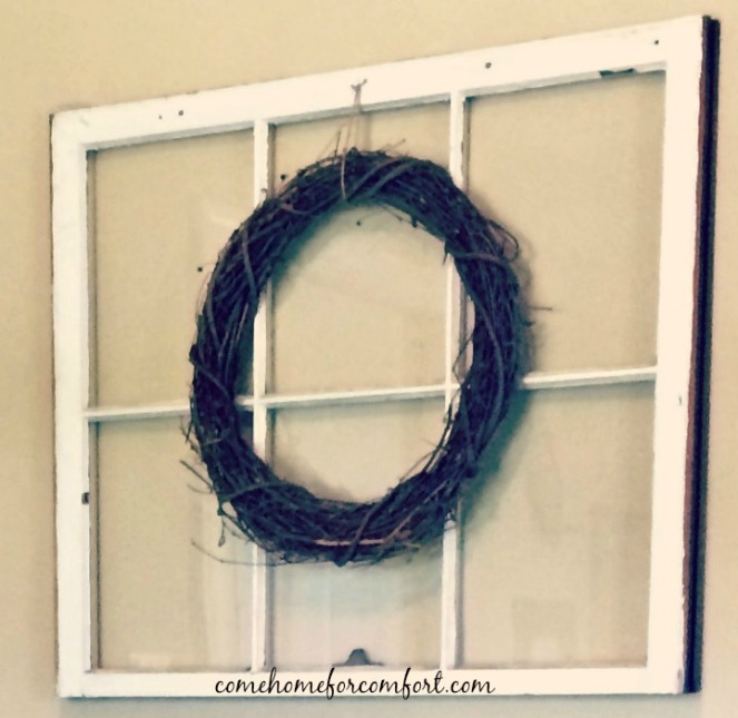 Dining Room Decor Window and Grapevine Wreath 2 Come Home For Comfort