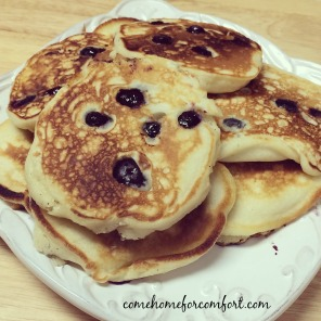 Homemade Blueberry Pancakes Come Home For Comfort