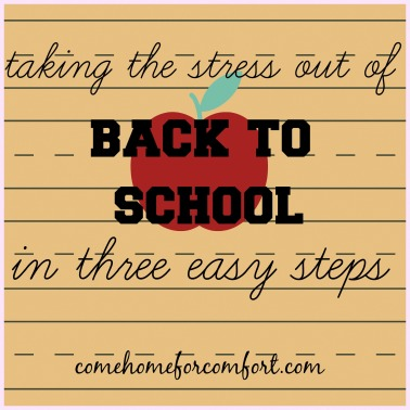 How to make back to school mornings run smoothly Come Home For Comfort