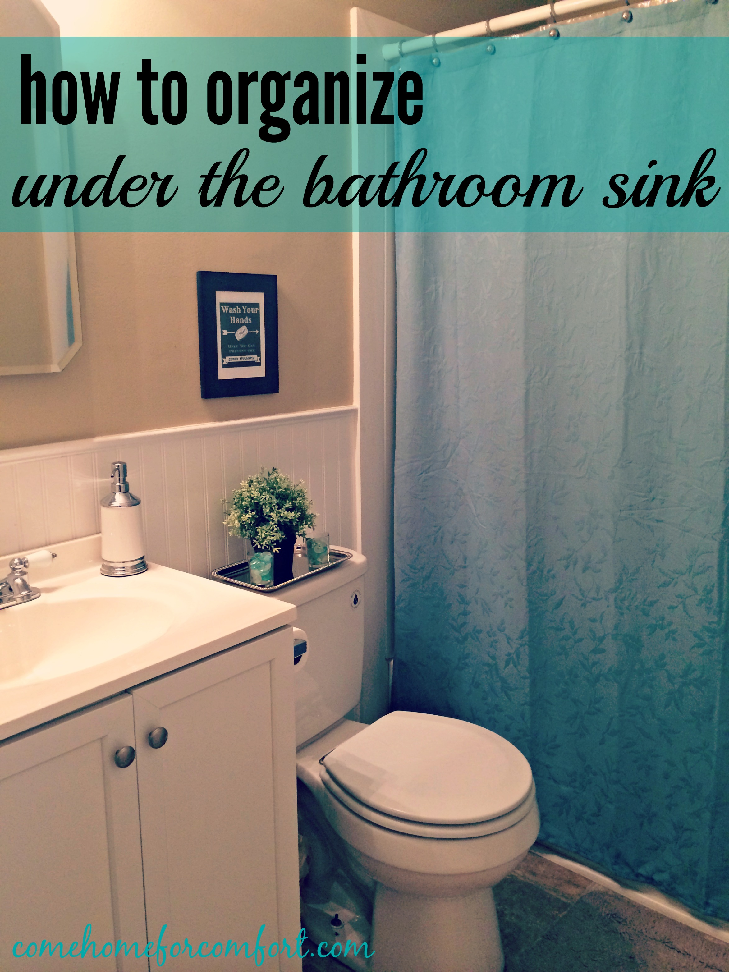 How To Organize Under The Bathroom Sink And A Peek At My: how to organize bathroom