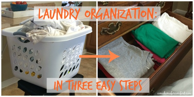 Laundry Organization Three Steps Come Home For Comfort