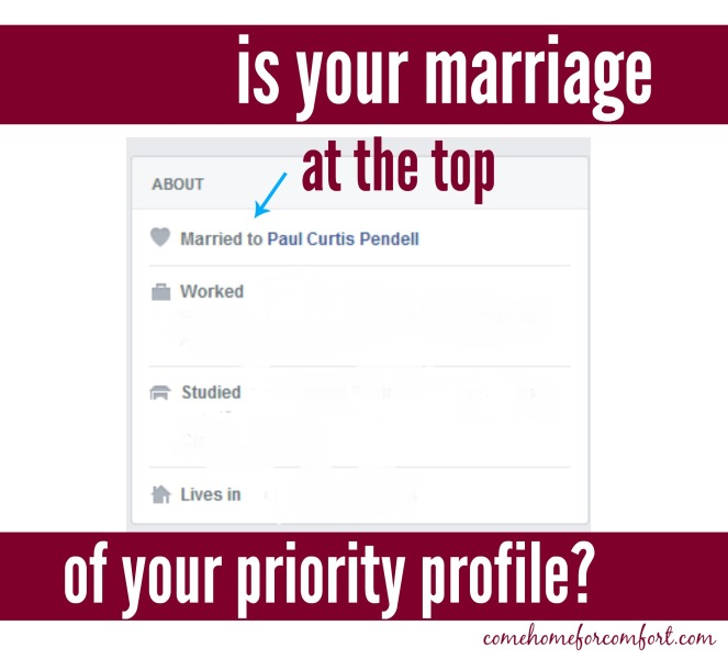 Ordering Your Priorities in Marriage Come Home For Comfort