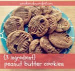 Peanut Butter Cookies that only use three ingredients Come Home For Comfort