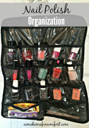 How to organize nail polish Come Home For Comfort