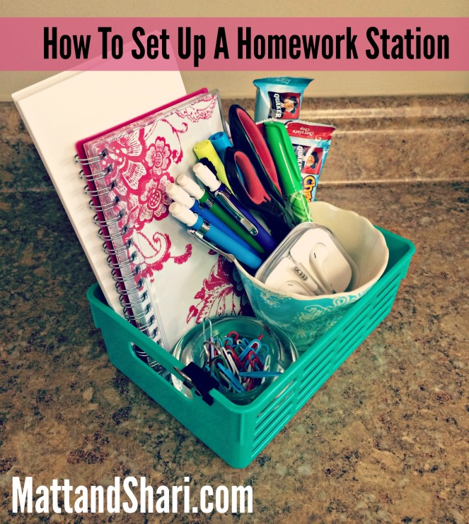 How To Set Up A Homework Station Title Matt and Shari