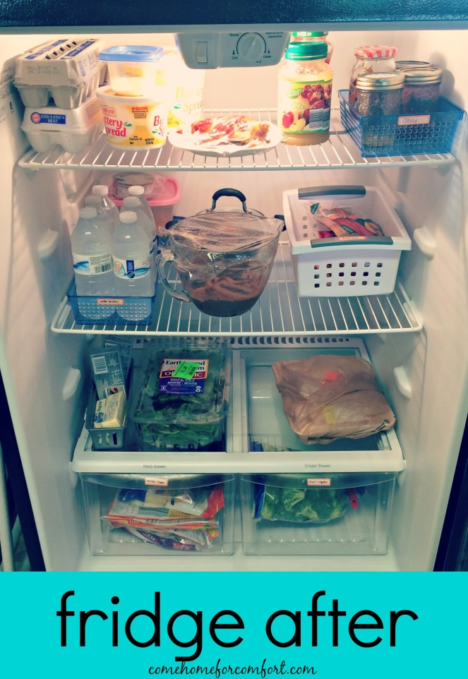 How to organize your refrigerator Come Home For Comfort