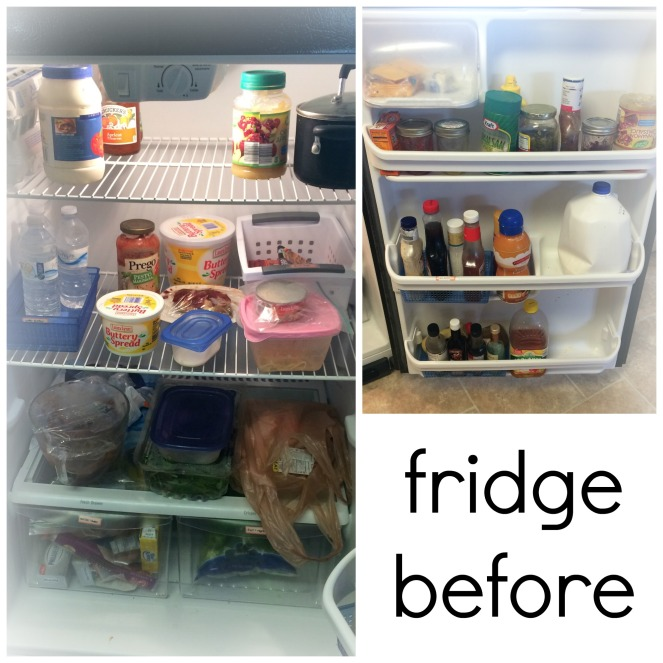 my fridge before I cleaned and organized it Come Home For Comfort