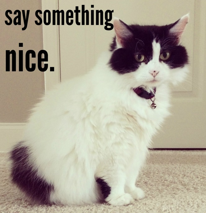 Take the compliment challenge and say nice things to people!