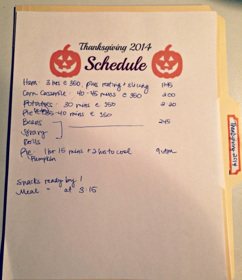 Thanksgiving Schedule Come Home For Comfort