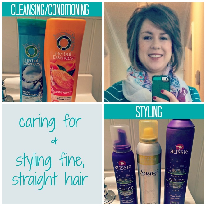 Caring for and styling fine straight hair with products Come Home For Comfort