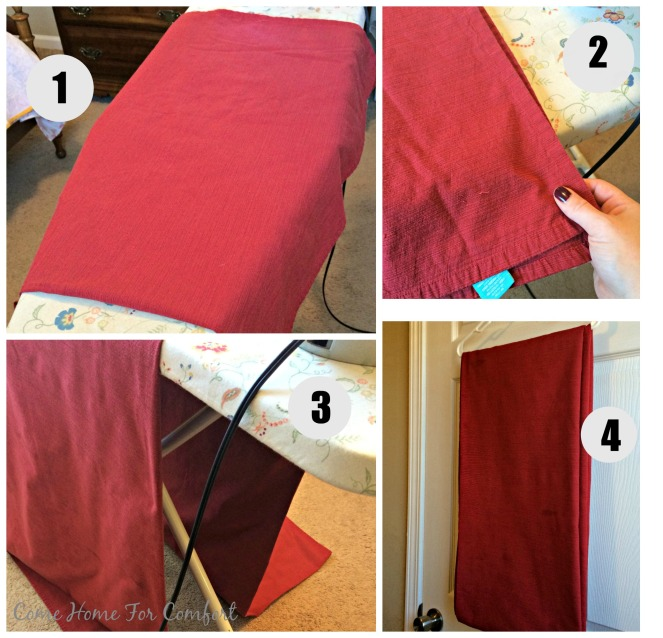 How To Iron A Large Tablecloth via ComeHomeForComfort.com