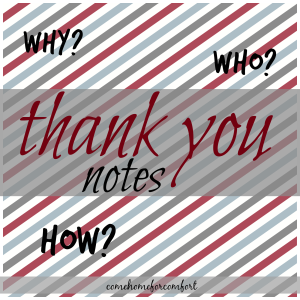 How to write a thank you note via ComeHomeForComfort.com