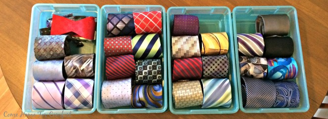 Organizing Ties and Making His Life Easier via ComeHomeForComfort.com