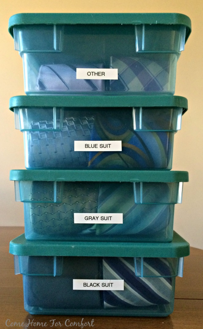Organizing Ties And Making Life Easier via ComeHomeForComfort.com