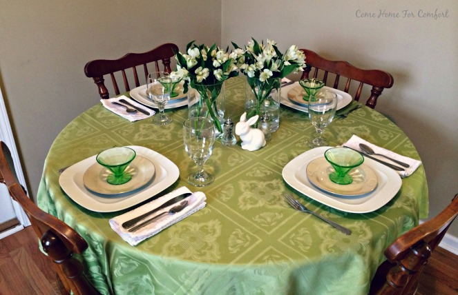 Setting the Table For Spring via ComeHomeForComfort.com