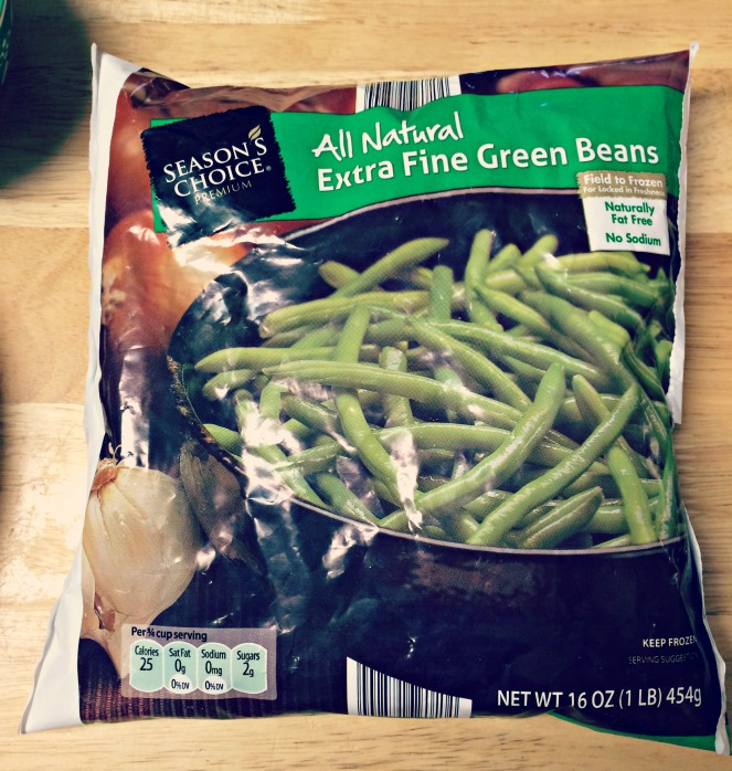Frozen green beans from Aldi