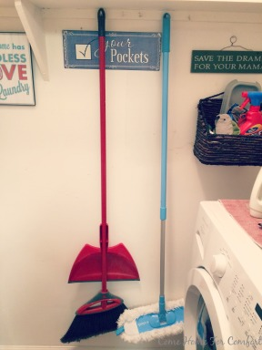 Get Organized Using Hooks to Corral Brooms via ComeHomeForComfort