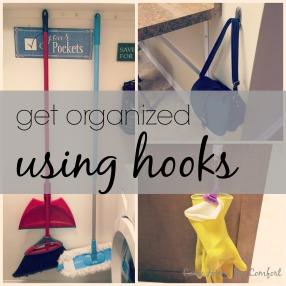 Get Organized Using Hooks via ComeHomeForComfort.com