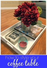 How To Style Your Coffee Table via ComeHomeForComfort