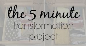 The 5 Minute Transformation Project via ComeHomeForComfort.com 1