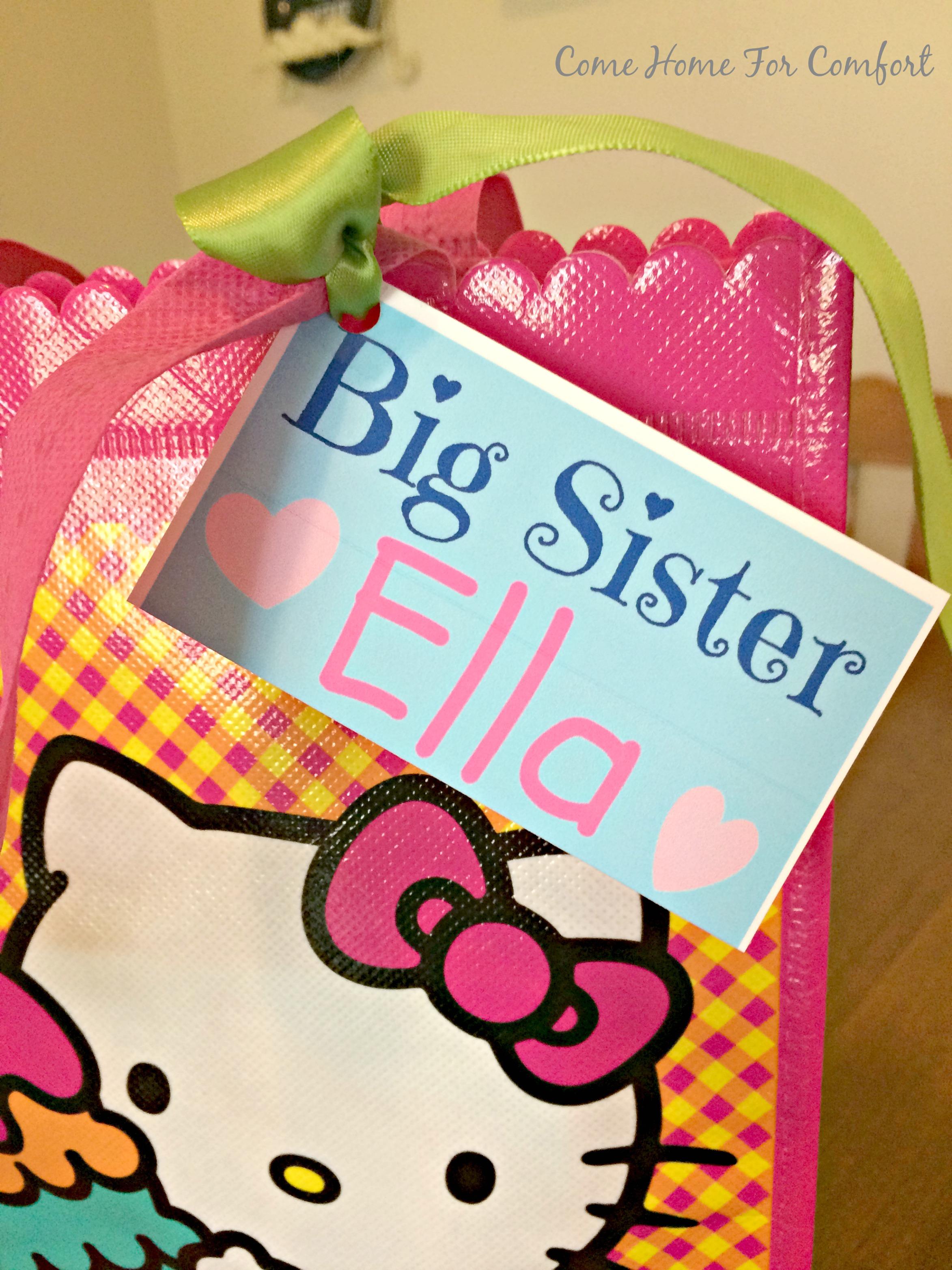 Big Sister survival kit via Come Home For Comfort