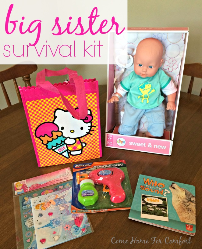 Big Sister Survival Kit via ComeHomeForComfort.com